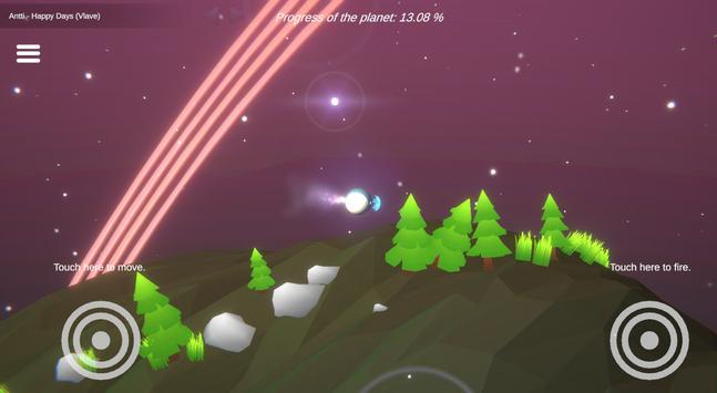 无人机攻击绿色星球