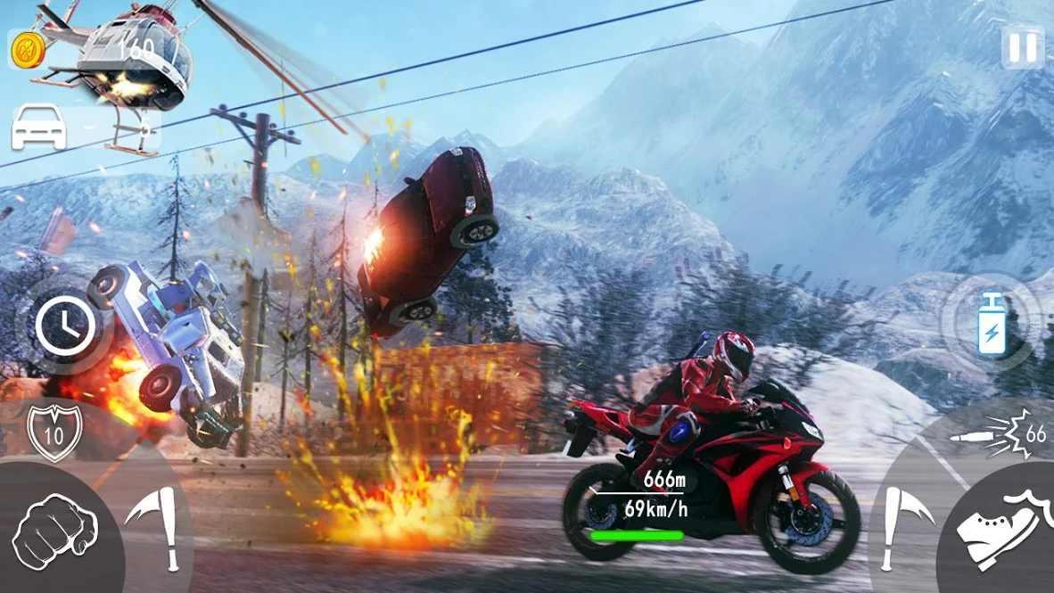 死亡摇摆摩托车
