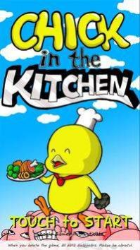 厨房里的小鸡