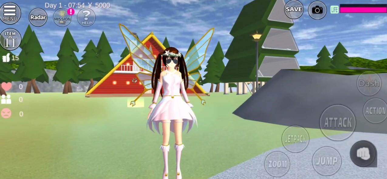 樱花校园模拟器更新冰晶宫殿