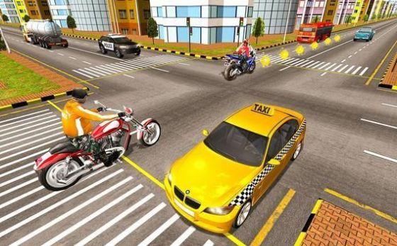 自行摩托车比赛游戏